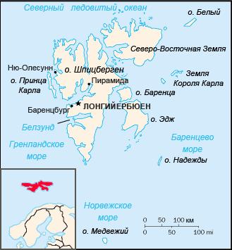 Карта Шпицбергена